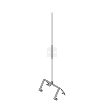 Держатель молниеприемника на конек ДМК-У молниеприемник 1,5 м, оцинкованная сталь
