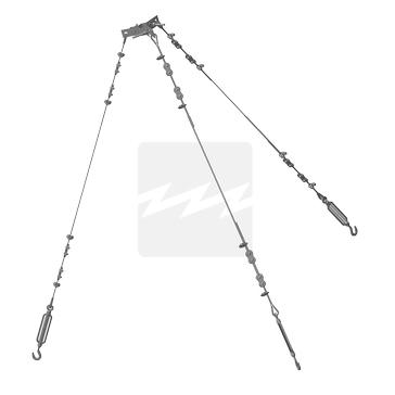 Комплект тросовых оттяжек Тип 1, оцинкованная сталь