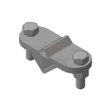 Зажим для подключения, оцинкованная сталь