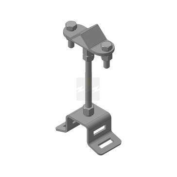 Держатель молниеприемника для стяжной ленты 0,7х20 мм ДМ-СЛ-100, оцинкованная сталь