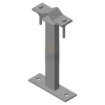 Кронштейн мачтовый (молниеприемный) 250 мм, оцинкованная сталь