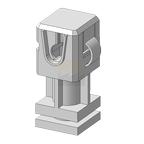 Держатель проводника h-35 мм (серый пластик)
