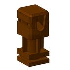 Держатель проводника h-35 мм (коричневый пластик)