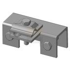 Держатель проводника для металлических конструкций ДПМК, оцинкованная сталь