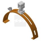 Держатель проводника для коньковой черепицы - ДКЧ-С-М