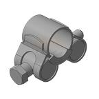 Хомут для мачт (молниеприемный) Тип 1, нержавеющая сталь, 20-22мм