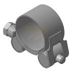 Хомут для мачт (молниеприемный) Тип 2, нержавеющая сталь, 36-39мм