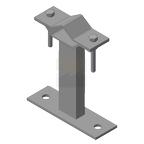 Кронштейн мачтовый (молниеприемный) 150 мм, оцинкованная сталь