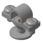 Держатель молниеприемника 16 мм, оцинкованная сталь