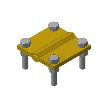 Зажим соединения (Тип L), латунь