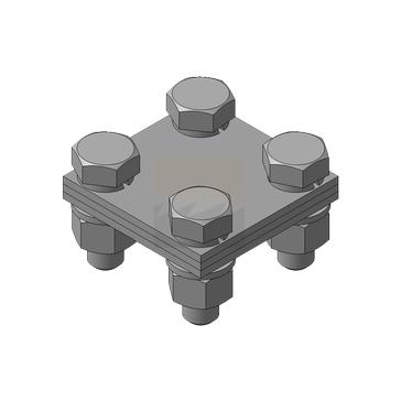 Зажим для полосы 20х3 мм, нержавеющая сталь